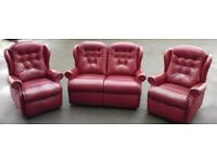 Deep Wine Suite with Manual Recliners.