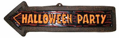 Halloween Party Wegweiser NEU - Partyartikel Dekoration Karneval Fasching