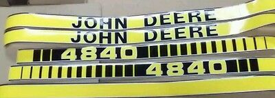 John Deere 4840 Hood Decals. Very Nice Quality. All Decals On Hood. See Details