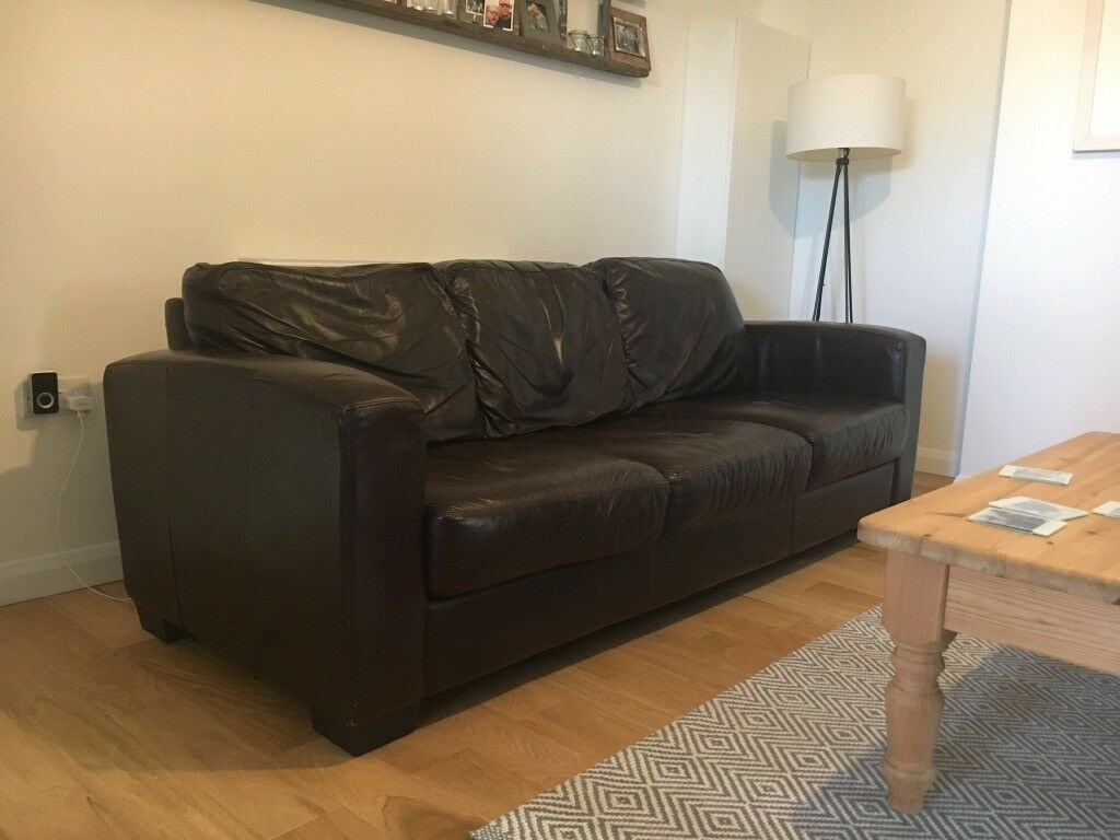 Dante 3 Seater Leather Sofa Furniture Village In Norwich Norfolk Rh Gumtree Com