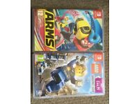 Nintendo switch games, arms & lego city undercover