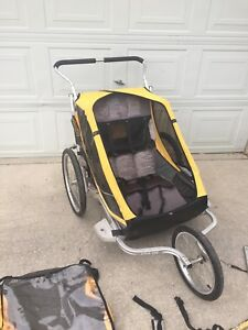 Chariot cougar double stroller with bike attachment