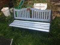 Garden bench cast iron ends first £20 takes
