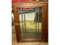 2 x Decorative glass doors