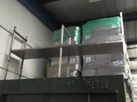Stainless steel industrial shelf