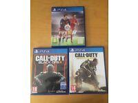 Call Of Duty Black Ops 3 , Call Of Duty Advanced Warfare, Fifa 16