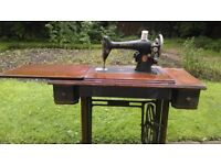 Antique vintage sewing machine