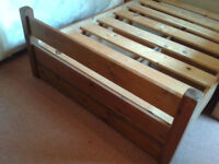 Warren Evans, Hand Made Large Single/Small Double Hand Made, Pine Bed Frame