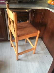 2 COUNTER HEIGHT CHAIRS $60