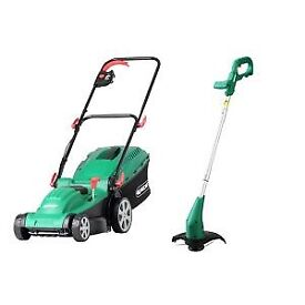 Qualcast Electric Rotary Lawnmower and Grass Trimmer
