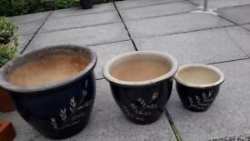 GARDEN POTS SET OF THREE