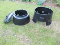 TWO LARGE PLASTIC COMPOST BINS. TEN POUNDS EACH. CROMFORD OR NOTTINGHAM