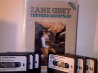 6x AUDIO BOOKS, THUNDER MOUNTAIN BY ZANE GREY READ BY LEONARD ZOLA ; 1988 CHIVERS AUDIO BOOKS CAB256