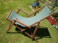 'The Armchair Deckchair' Quality, Comfy Wood Deck Chair with Arm Rests ... Offers Welcome