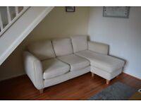 DFS corner sofa and armchair