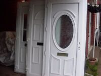 nearly brand new upvc door minter with handles included