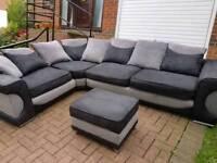Corner sofa and stool