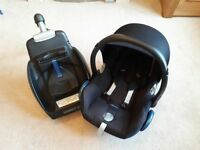 Maxi cosi cabriofix car seat and family fix isofix base
