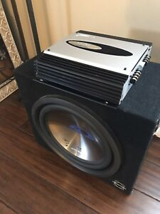 """^** //ALPINE 12"""" TYPE S SUBWOOFER WITH CLARION AMP!!"""