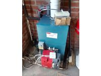 Warmflow 50/70 oil boiler and burner