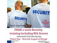 FREE security course with SIA licence