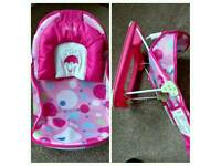 Pink baby deluxe bather