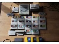 Super Nintendo With Super Wildcard, 50/60Hz Switch, 17 Games, Super Game Boy, 2 Controllers