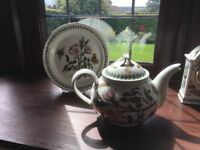 Portmeirion Tea pot and plate