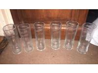 Sets of half pint glasses