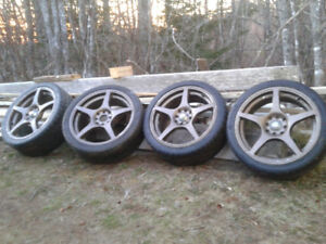 4 215/40ZR17 tires on rims for sale