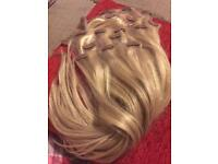 Foxy locks latte blonde seamless hair extensions 18""