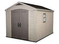 KETER PLASTIC SHED 8 x 11 - BRAND NEW IN BOX - STORAGE UNIT OUTDOOR GARAGE - CAN DELIVER