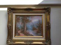 2 X I. Cafieri signed oil paintings.