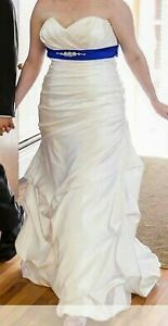 Wedding dress with matching veil and hair fascinator