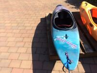 White water kayak in excellent condition with air bags Suitable for lighter paddler ...