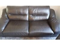 3 seater sofa and recliner leather chair