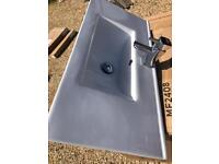 Sink with tap. Never used. Ready to fit. £50