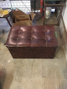 Old leather bench