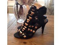 Black heeled sandals*brand new *