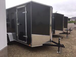 6x12 Plus 6 ramp Door Enclosed trailer