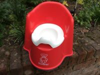 Baby Bjorn Potty Chair in red