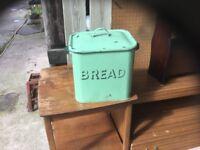 A 1930's enamel bread bin.