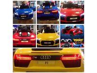 Audi R8 Ride-On Car, Parental Remote Or Self Drive 12v Available In White & Yellow, Blue