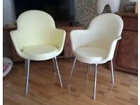 2 Italian Bucket Tub Chairs by Marcello Ziliani.. Injection Moulded. Outdoor or Indoor. Stackable.