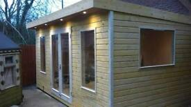 New fully. Insulated. And double glazed. Garden room summer. House. Or office
