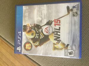 Jeu de ps4 NHL 15