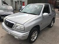 2003 Suzuki Grand Vitara GV1600 Convertible 4x4 Soft Top Jeep - MOT 03/18 - 4 wheel drive