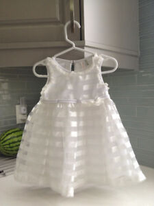 White (Flower Girl) Dress & Size 5-6 White Shoes (12-24 Months)