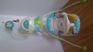 Baby swing set and bath tub