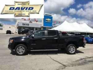 2015 GMC Canyon SLT CREW 4WD, LEATHER, NAVIGATION, LOCAL TRADE
